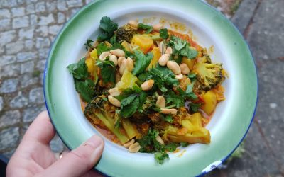 Aardappel linzencurry
