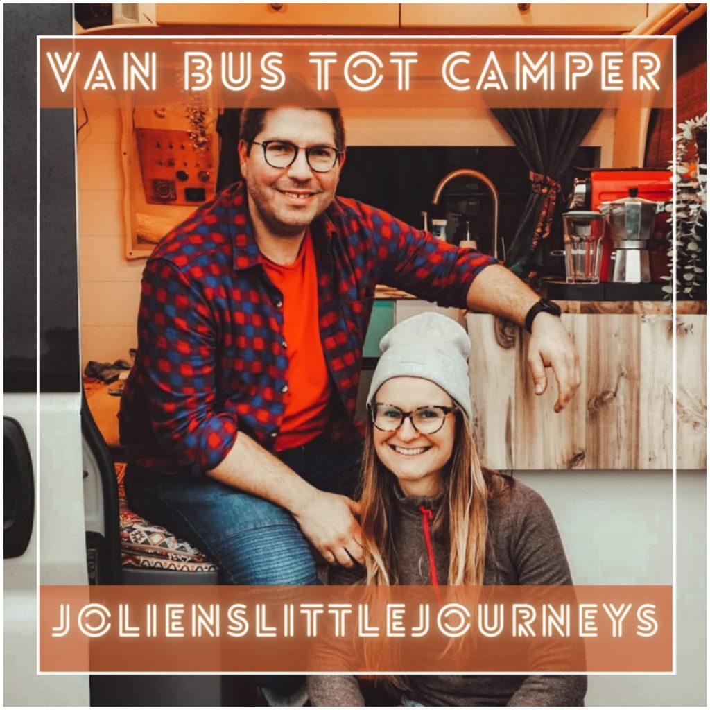 VanVerhalen presenteert de podcastserie Van Bus tot Camper. Een serie over het verbouwen van bestelbus tot campervan. Aflevering 2: Jolien en Raanan. a.k.a jolienslittlejourneys