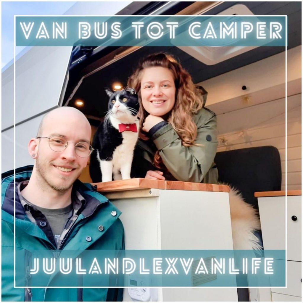 VanVerhalen presenteert de podcastserie Van Bus tot Camper. Een serie over het zelf verbouwen van bestelbus tot campervan. Aflevering 5: Juliette & Lex. a.k.a juulandlexvanlife